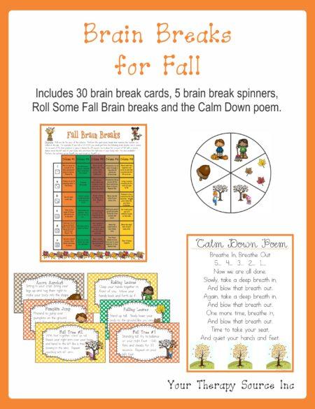 Brain Breaks for Fall