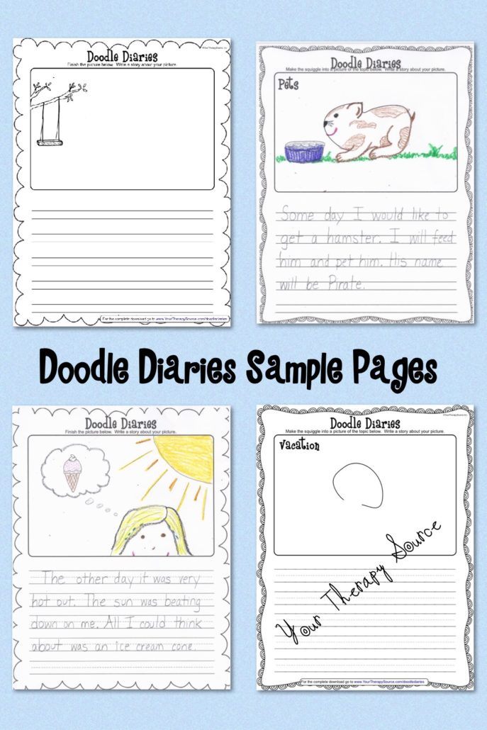 Doodle Diaries Free Pages