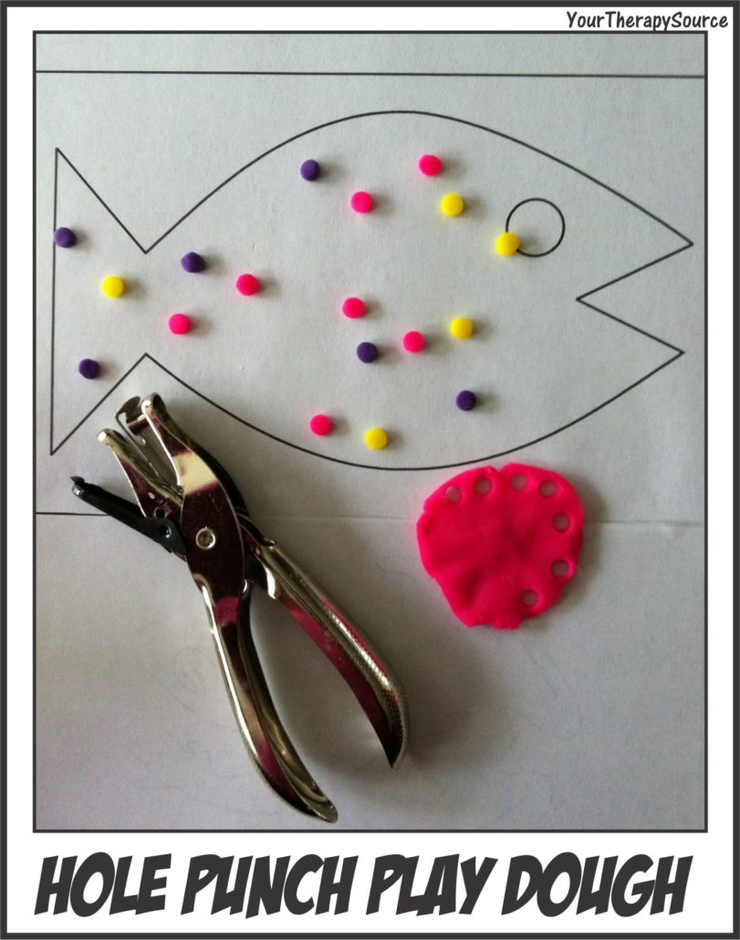 Hole Punch Play Dough