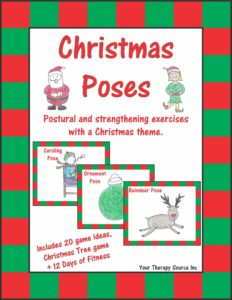 Christmas Poses - Postural and Strengthening Exercises with a Christmas Theme