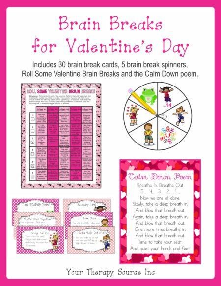 Brain Breaks for Valentine's Day