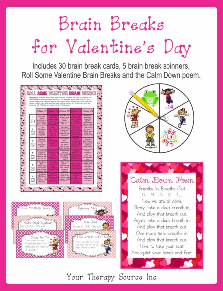 Brain Breaks for Valentine's Day