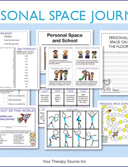Personal Space Journey is a collection of personal space worksheets and activities to teach children about personal space including body awareness exercises and a social story on personal space.
