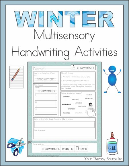 Winter Multisensory Handwriting Activities