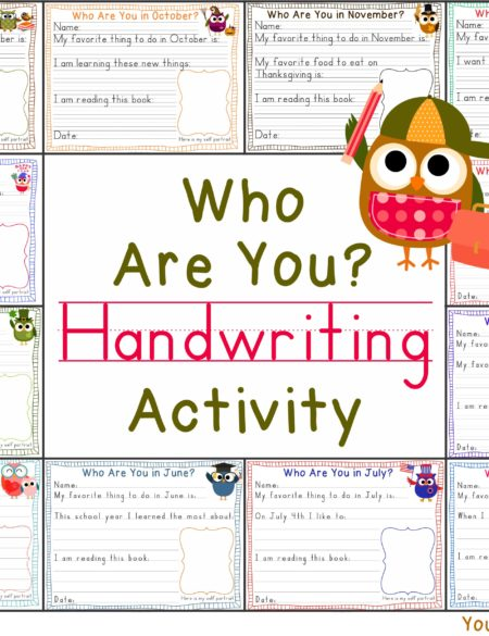 Who Are You? Handwriting Activity