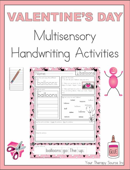 Valentine's Day Multisensory Handwriting Activities