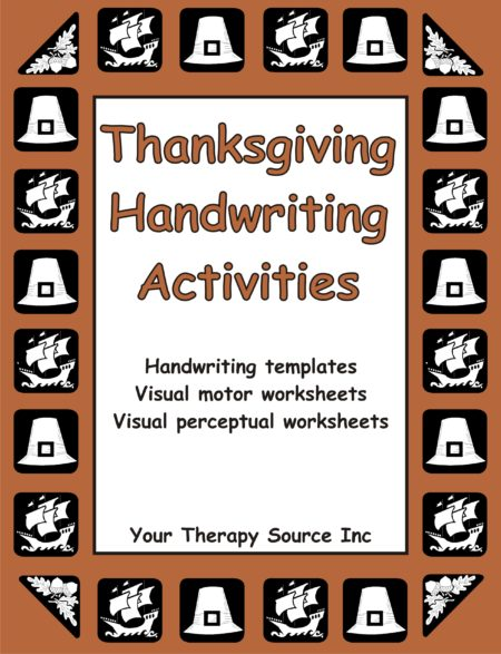 vThanksgiving Handwriting Activities