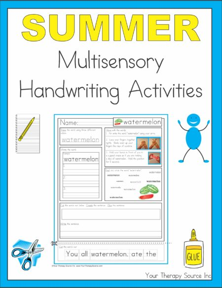 Summer Multisensory Handwriting Activities