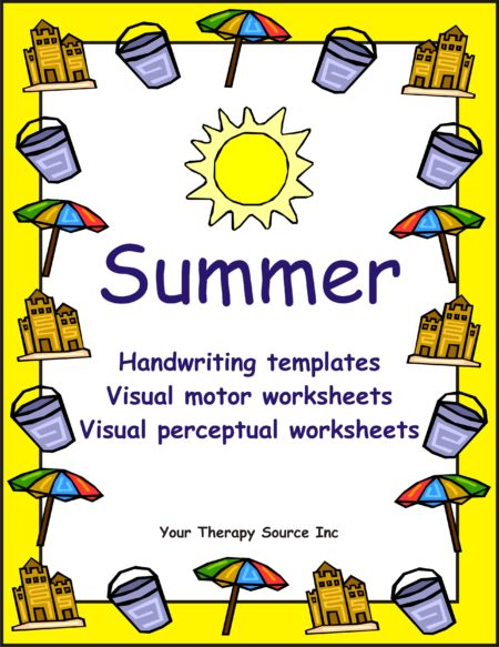 Summer Handwriting Activities