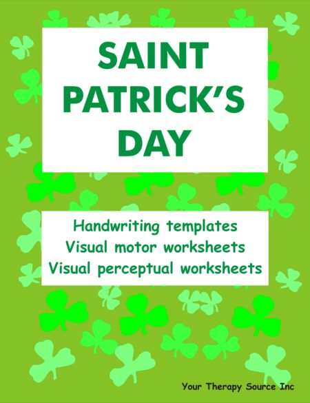Saint Patrick's Day Handwriting Activities