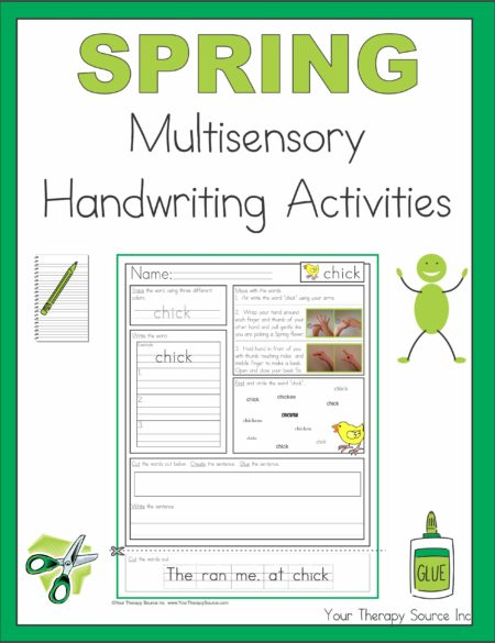 Spring Multisensory Handwriting Activities
