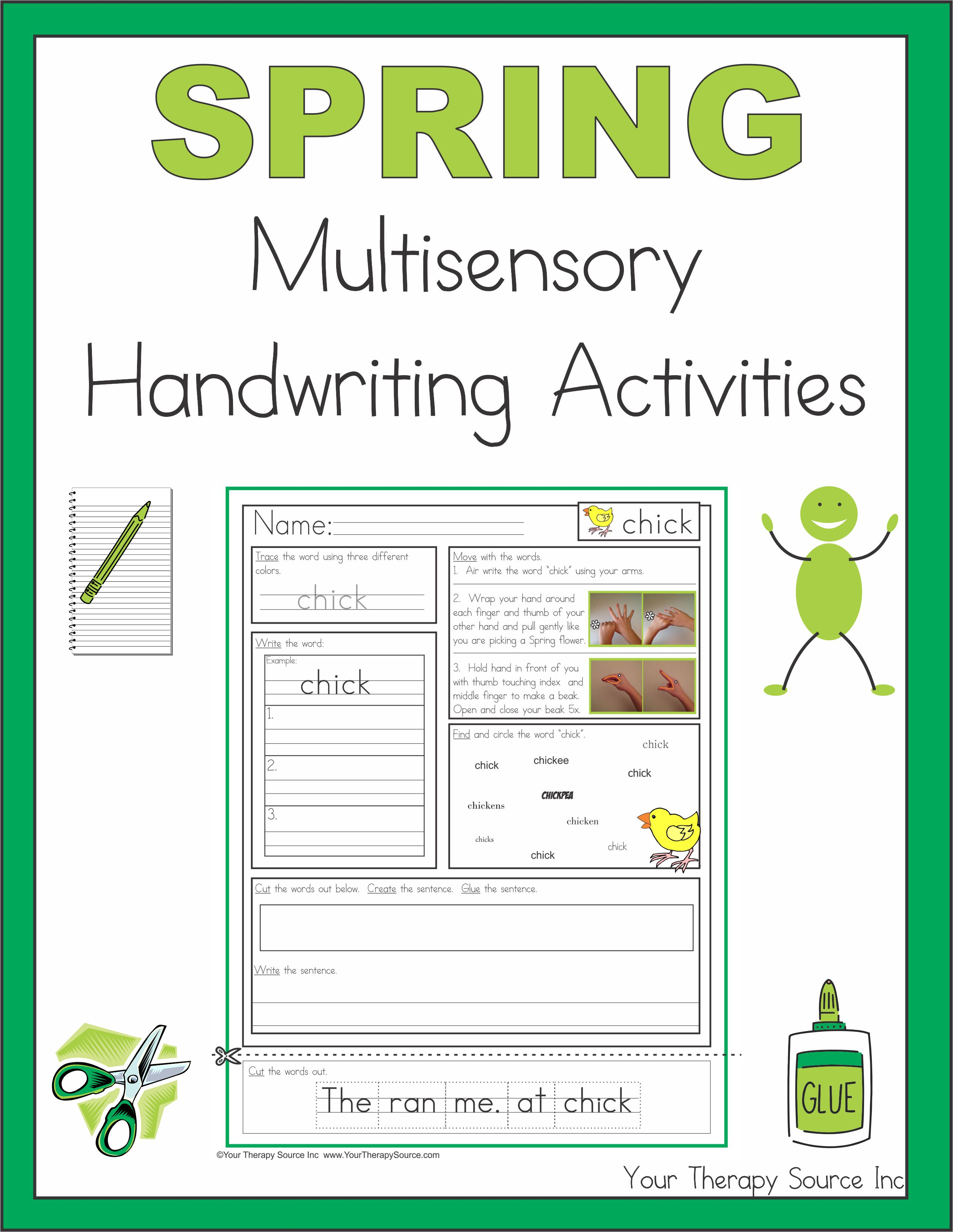 spring multisensory handwriting activities your therapy source. Black Bedroom Furniture Sets. Home Design Ideas