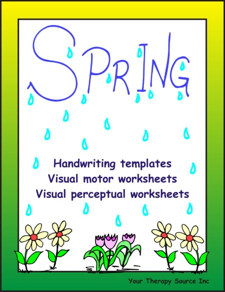 Spring Handwriting Activities