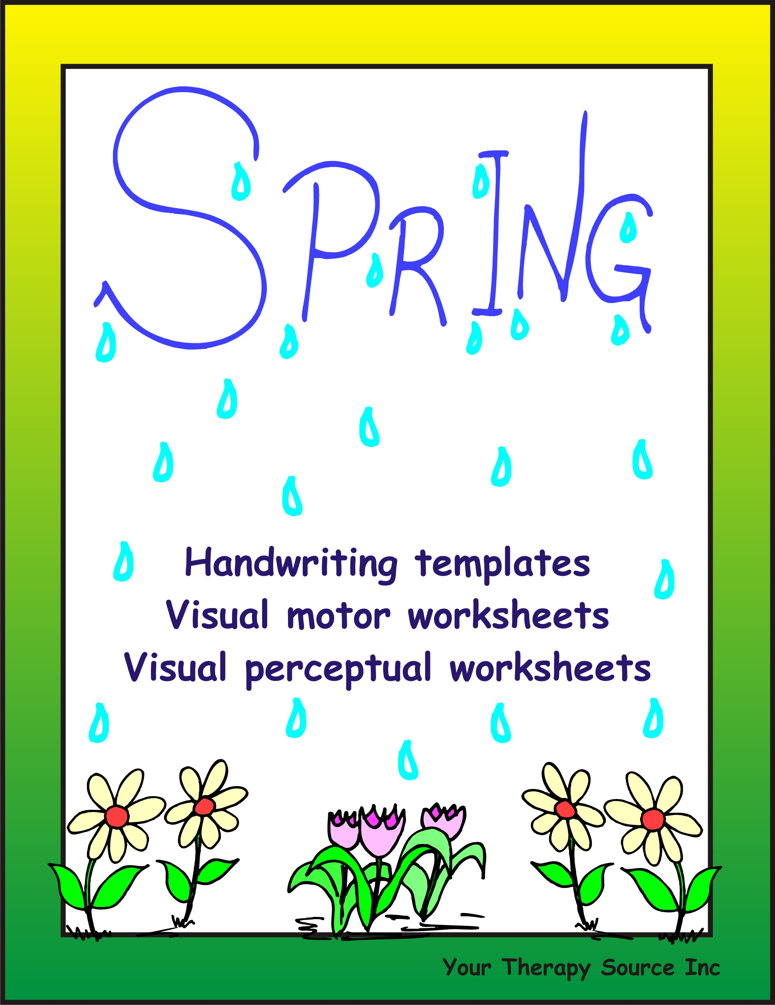 spring handwriting activities your therapy source. Black Bedroom Furniture Sets. Home Design Ideas