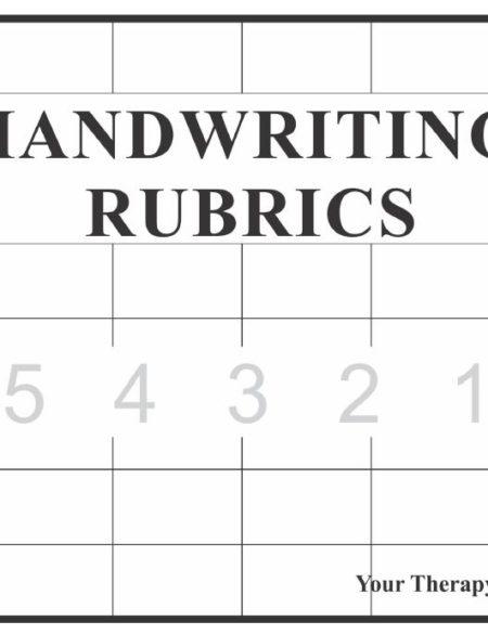 Handwriting Rubrics