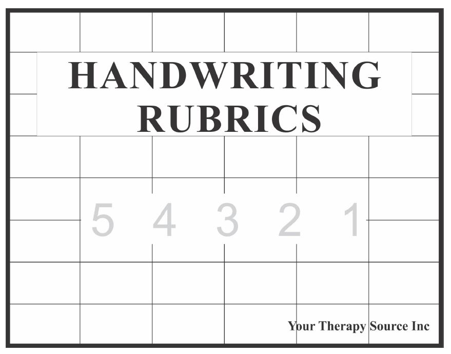 Handwriting Rubrics