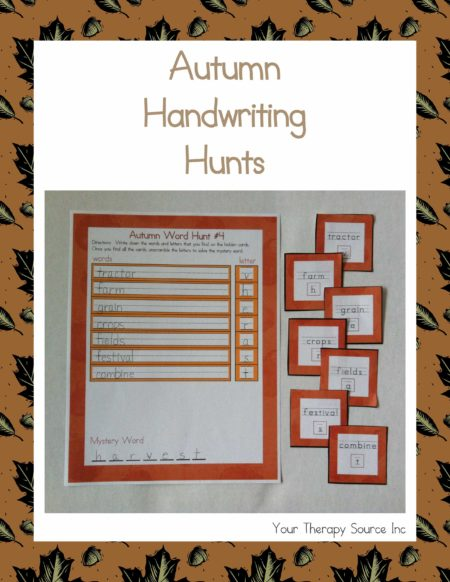 Autumn Handwriting Hunts