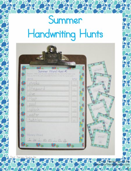 Summer Handwriting Hunts