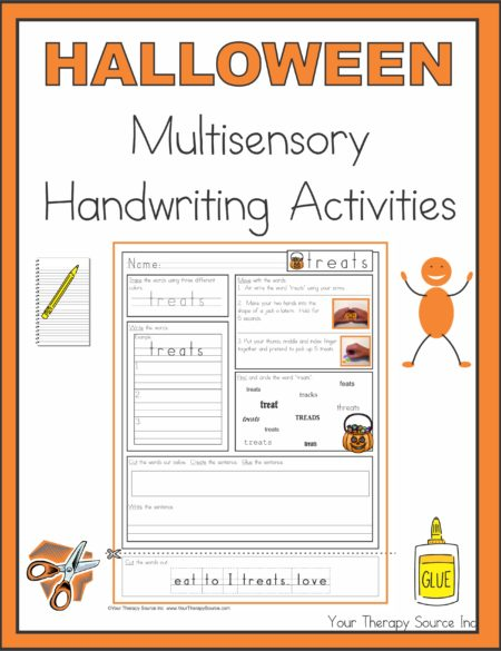 Halloween Multisensory Handwriting Activities
