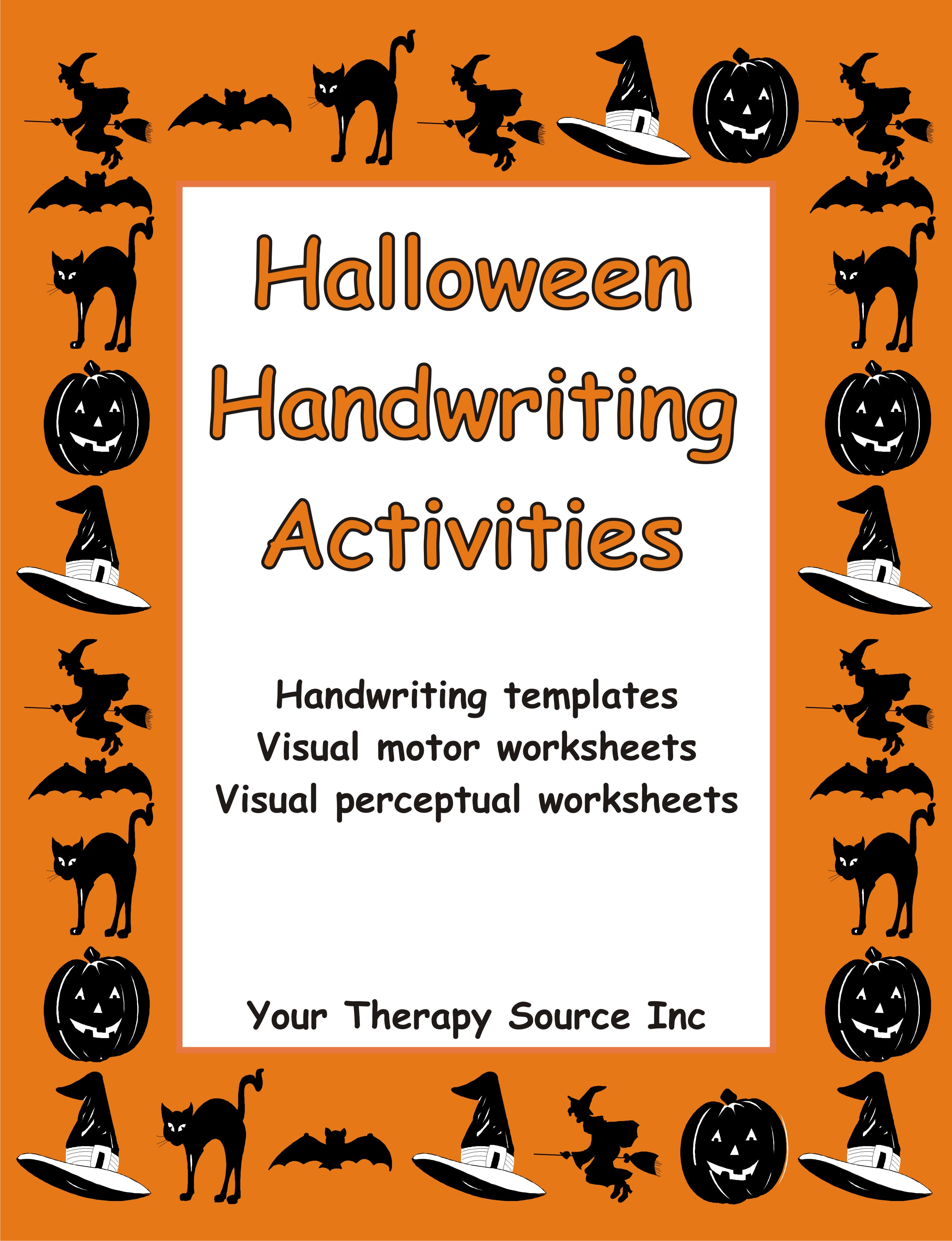 halloween handwriting activities your therapy source. Black Bedroom Furniture Sets. Home Design Ideas
