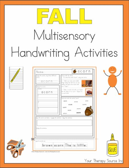 Fall Multisensory Handwriting Activities