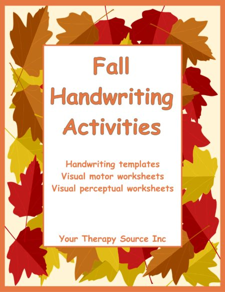 Fall Handwriting Activities