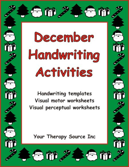 December Handwriting Activities