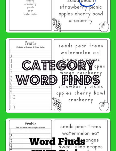 Category Word Finds