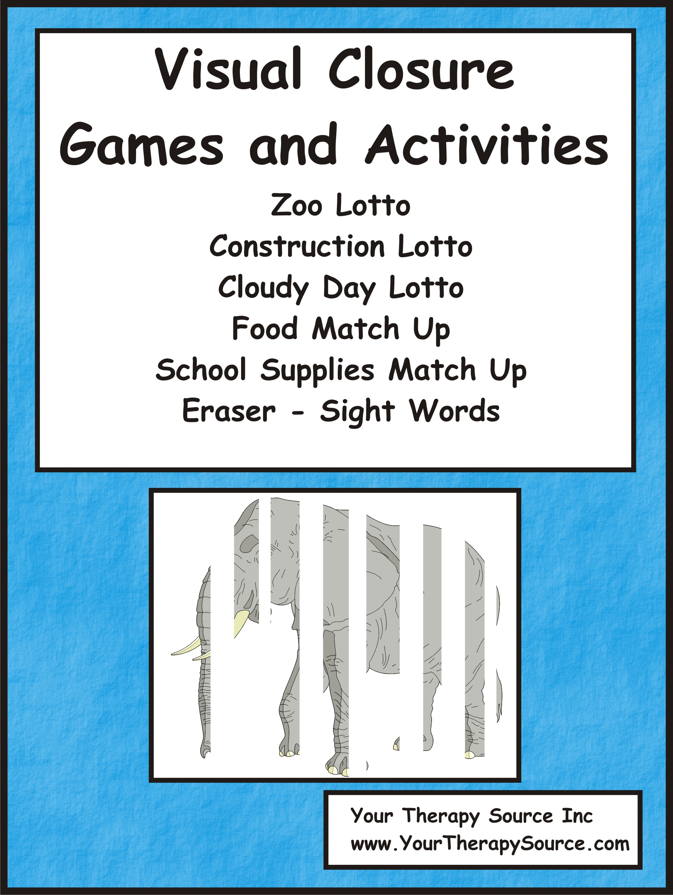 Visual Closure Games And Activities Your Therapy Source