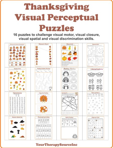 Thanksgiving Visual Perceptual Puzzles