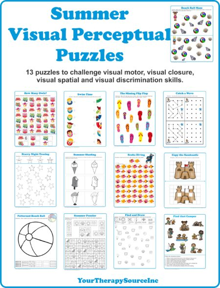Summer Visual Perceptual Puzzles