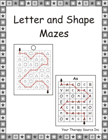 Letter and Shape Mazes