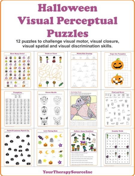 Halloween Visual Perceptual Puzzles