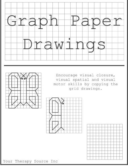 graph paper drawings freebie your therapy source