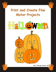 Print and Create Fine Motor Projects – Halloween