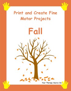 Print and Create Fine Motor Projects – Fall