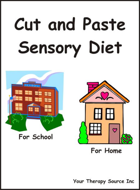 Cut and Paste Sensory Diet