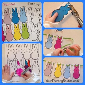 Free Printable Easter Crafts that make a peep garland