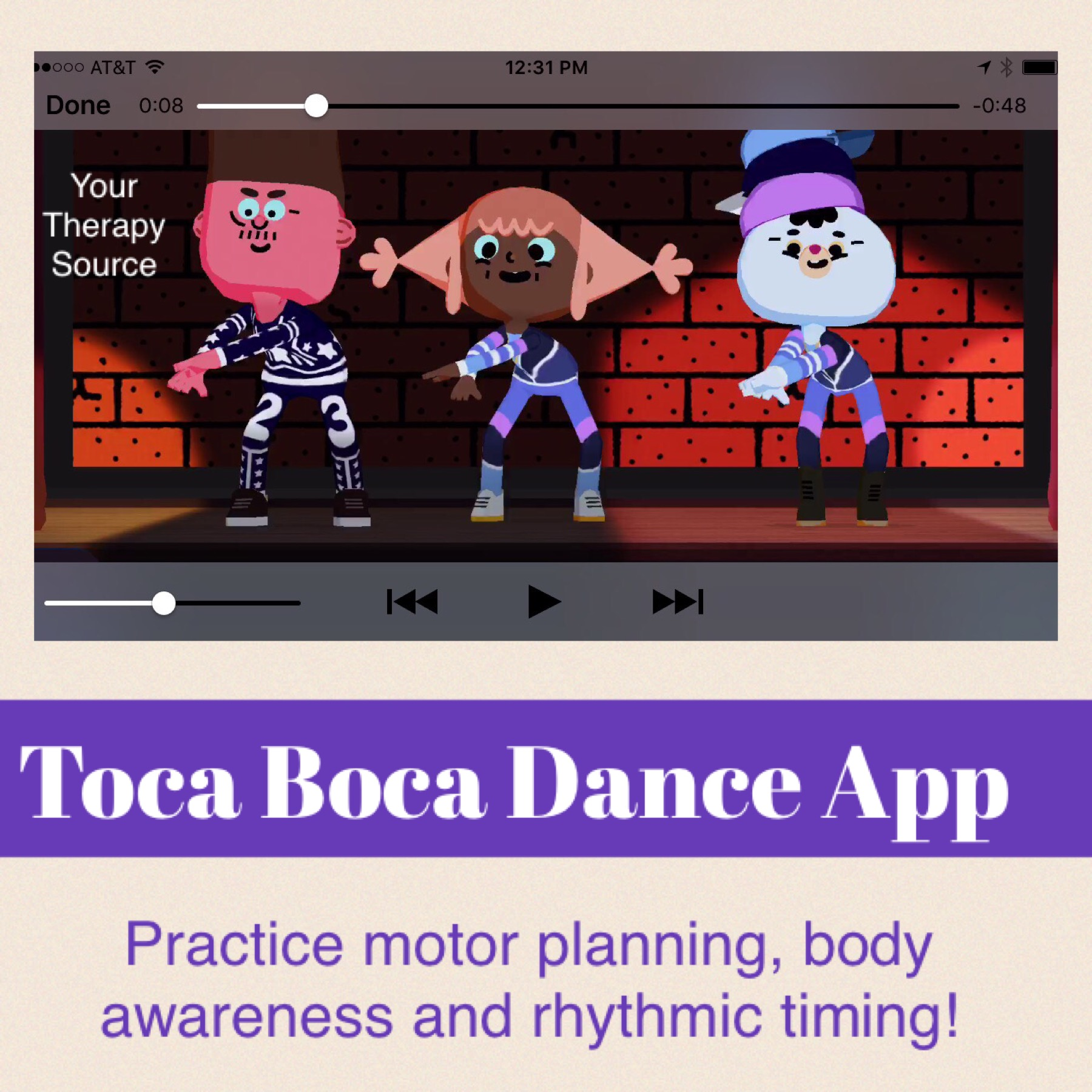 Toca Boca Dance App Your Therapy Source Review