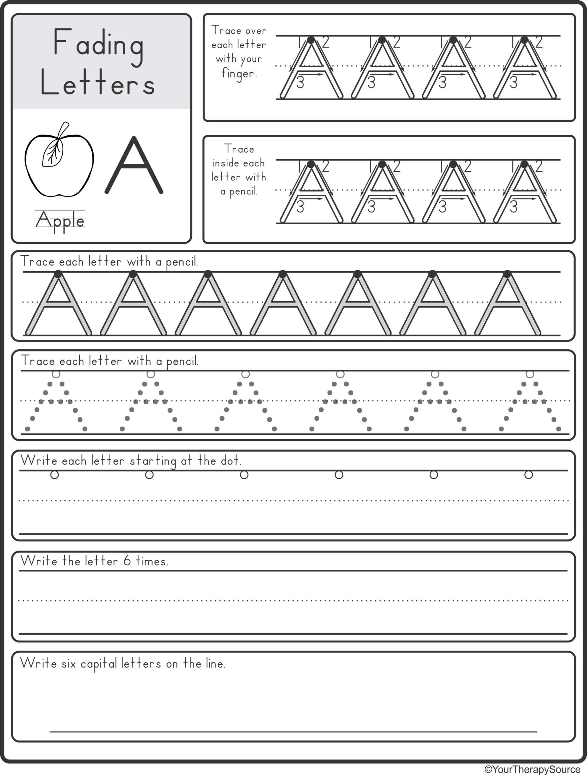 Fading Alphabet Double Line OR Dotted Line Style   Your ...