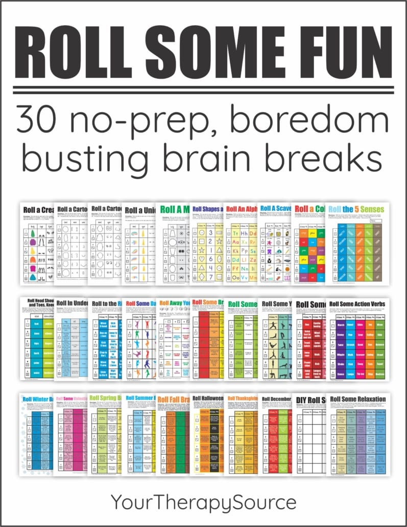Roll Some Fun Brain Breaks has been updated to include 30 no-prep, boredom busting brain breaks to encourage motor skills, and FUN.