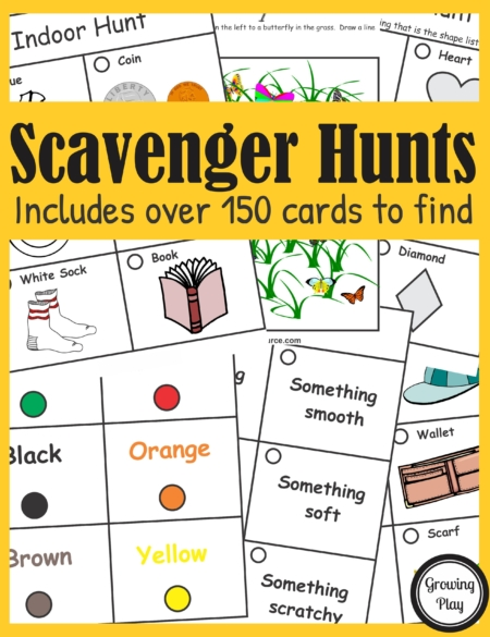 These in person or teletherapy Scavenger Hunts will encourage physical activity and visual skills in your students while going on fun scavenger hunts.