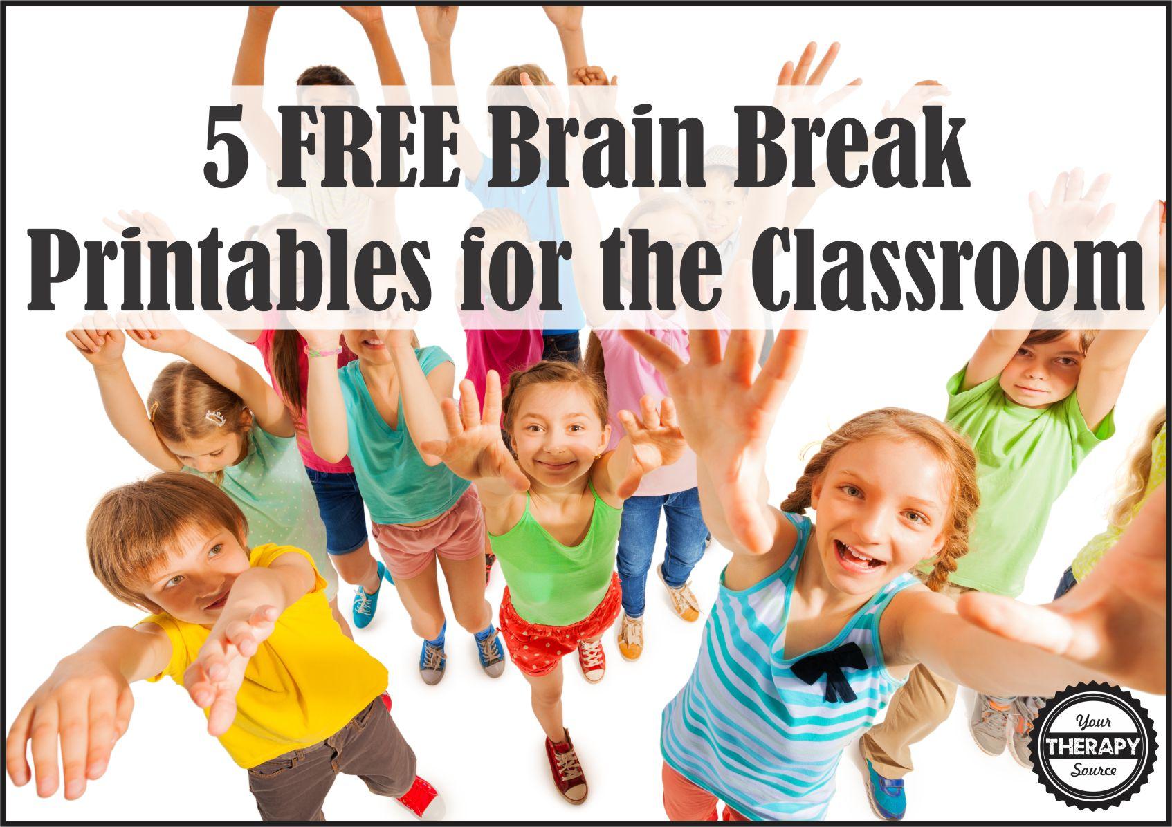 5 FREE Brain Break Printables