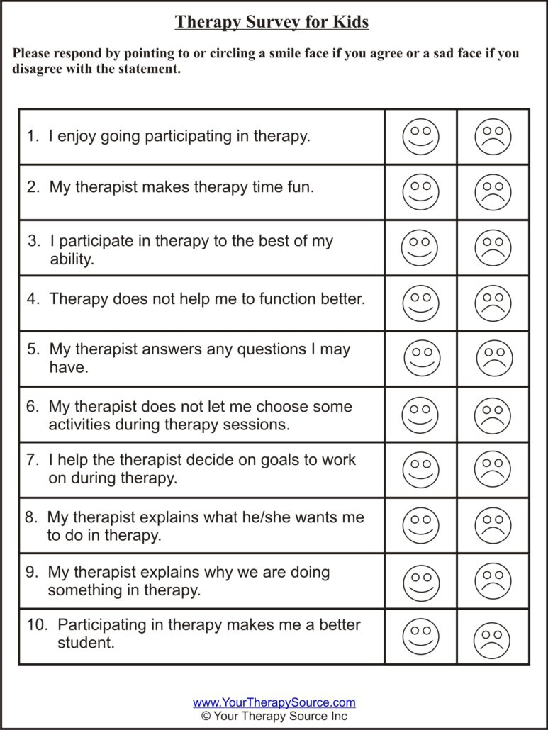 surveys for children therapy survey for kids your therapy source 2795
