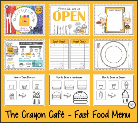 The Crayon Cafe Sample Pages