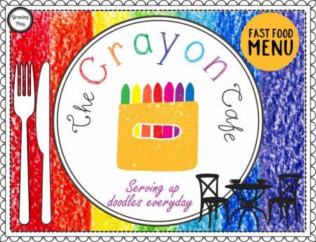 The Crayon Cafe - Fast Food Menu