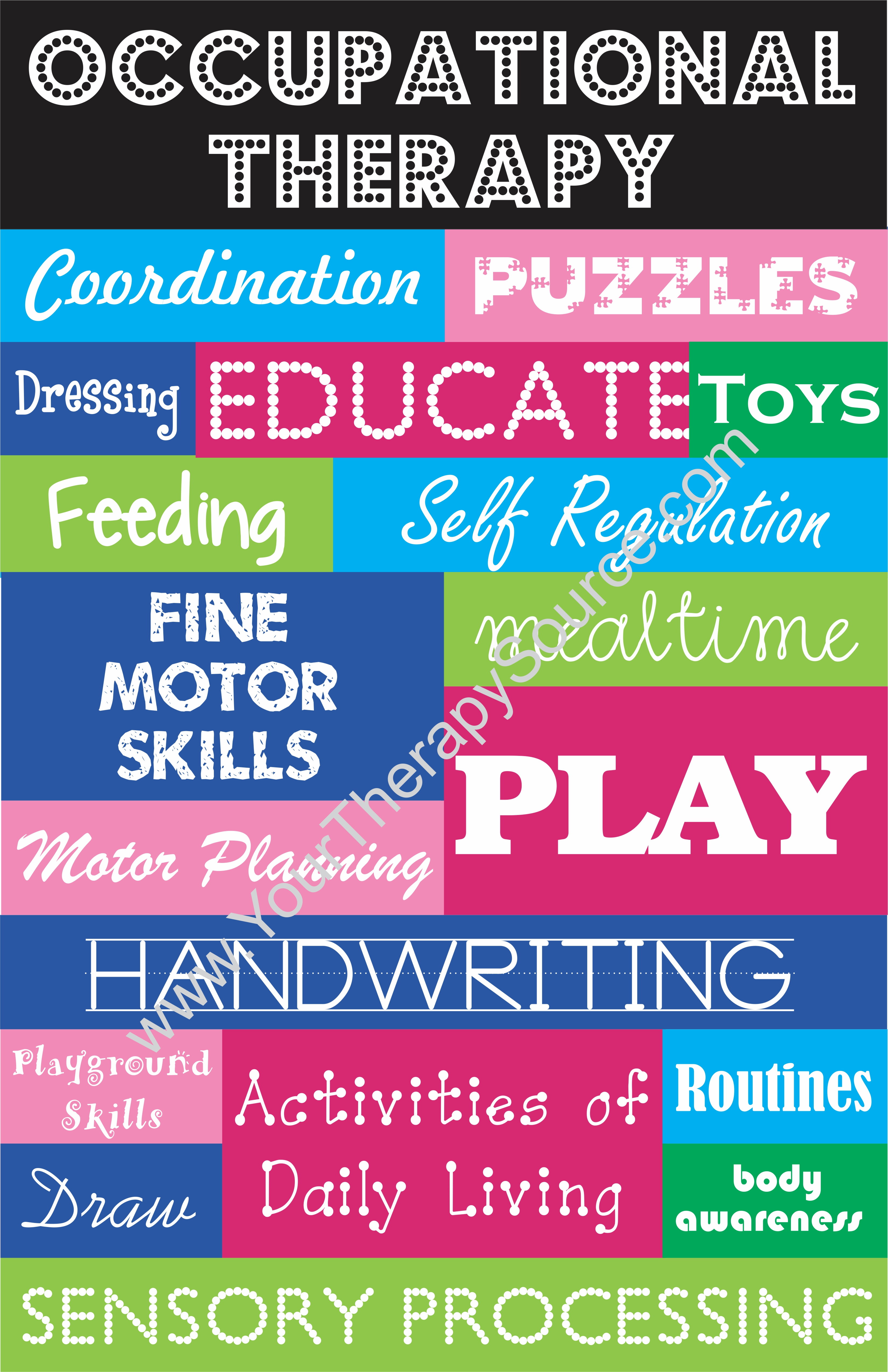 motivational posters occupational therapy word collage your