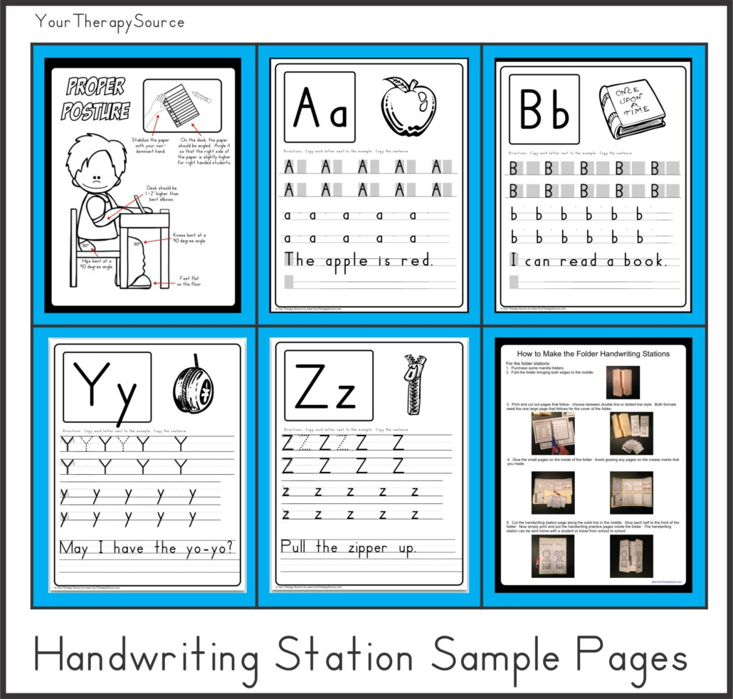 Download sample pages from Handwriting Stations