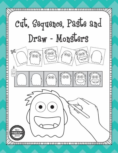 Cut, Sequence, Paste and Draw - Monsters