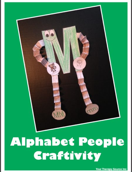 Alphabet People Craftivity